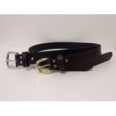 Mens Straight Stitched Belt Brown 32mm - 105D