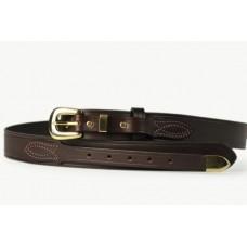 Mens Ranger Belt With Tip Brown-102BT