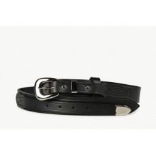 Mens Ranger Belt With Tip Black-102IT