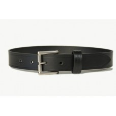 Mens Leather Belt Black 30mm -107E